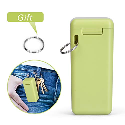 Collapsible Straw Reusable Stainless Steel, Folding Drinking Straws Keychain Foldable Final Premium Food-grade Portable Set with Hard Case Holder Cleaning Brush for Travel, Household, Outdoor-Green by Hydream (Image #5)