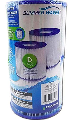 Summer Waves Universal Filter Cartridge Replacement D-Type (2 pack)