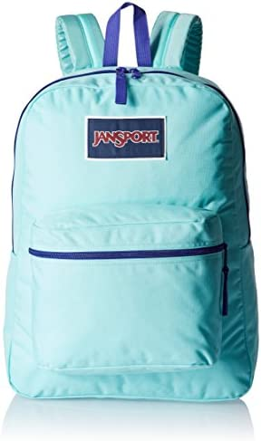 JanSport Womens Classic Mainstream Overexposed Backpack – Aqua Dash Violet Purple 16.7 H X 13 W X 8.5 D