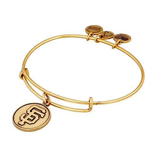 (Alex and Ani San Francisco Giants Cap Logo Expandable Rafaelian Gold Bangle Bracelet)