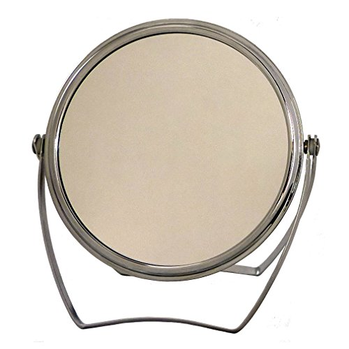 Magnifying Vanity Makeup Mirror, Double-Sided with 1x and 3x Magnification, 5-Inch Round Chrome Color Frame - Best Way to Create Cosmetic Beauty Close Up - Double Sided Locker