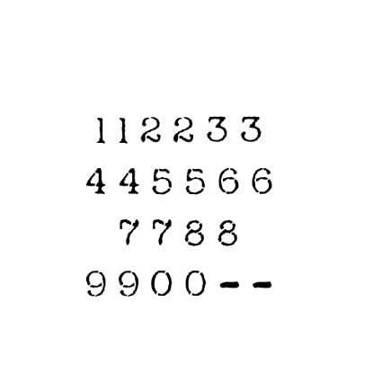 Amazon com: Number Stencil Set | 2 inch Old Newsprint Font