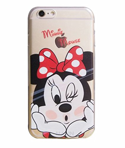 (Phone Kandy Transparent Hard Shell Cartoon Case Skin & Screen Guard for iPod Touch 5 or 6 Prime (tt02) (iPod Touch 5/6, Minnie))