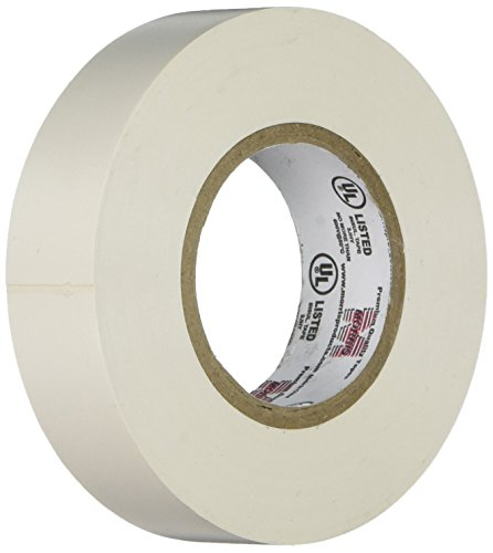 Morris 60020 White Vinyl Plastic Electrical Tape, 7 mil, PVC, 66' Length, 3/4