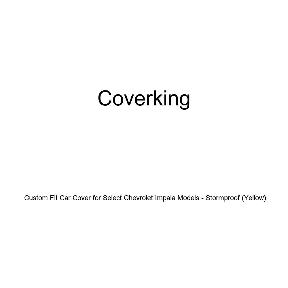 CVC4SP93CH2236 Yellow Coverking Custom Fit Car Cover for Select Chevrolet Impala Models Stormproof