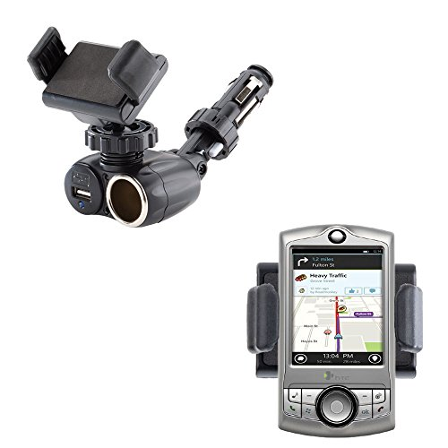 (Unique Auto Cigarette Lighter and USB Charger Compact Mounting System Includes Adjustable Holder for the HTC CDMA PDA Phone )