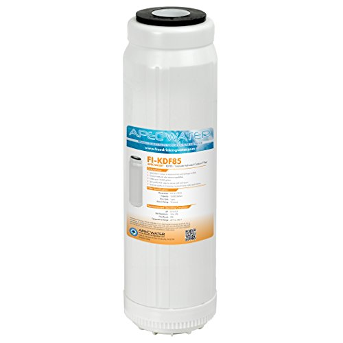 APEC 10'' Water Filter For Iron and Hydrogen Sulfide Removal, 10'' x 2.5'' (FI-KDF85) by APEC Water Systems