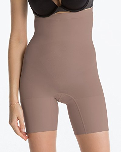 Nylon Spanx Tights - SPANX Power Series Medium Control Higher Power Short, 3X, Taupe Tone