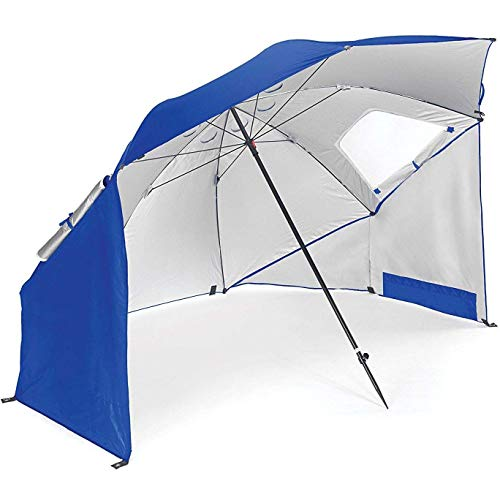 LJXiioo Portable Sun and Weather Umbrella Shelter for Beach and Sports Events (8-Foot),Blue