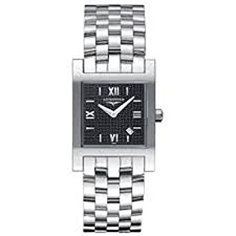 Uhr Longines Damen l55034756 Quarz (Batterie) Stahl Quandrante schwarz Armband Stahl