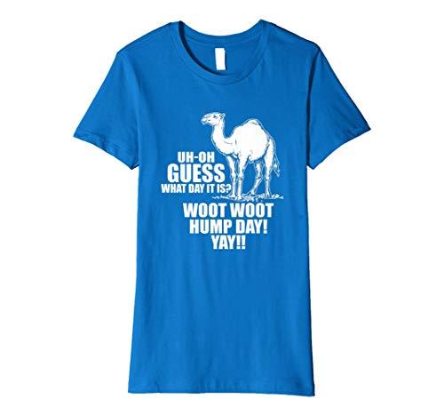 Womens Hump Day T Shirt Pun Camels Jokes Funny Medium Royal Blue
