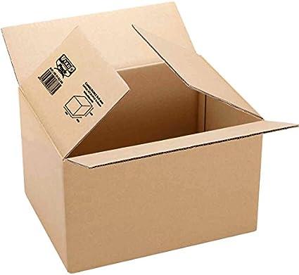 Fixo 18112 - Caja de embalaje, marrón, 593 x 388 x 355: Amazon.es: Oficina y papelería