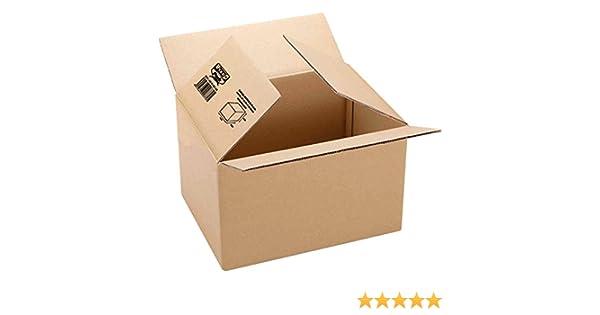 Fixo 18202 - Caja de embalaje, marrón, 400 x 290 x 220: Amazon.es: Oficina y papelería