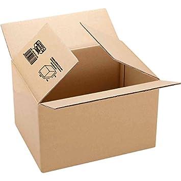 Fixo 18101 - Caja de embalaje, marrón, 260 x 210 x 100: Amazon.es: Oficina y papelería