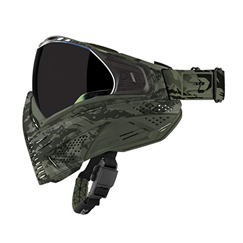 Push Unite Paintball Goggles MASK with Quad PANE Lens and CASE (Olive ()