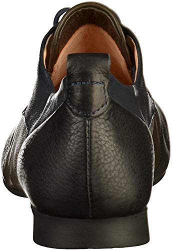 Kombi Cuero Cordones Zapatos Kombi Mujer Sz Sz de de para Think Negro 7aUpqP7w