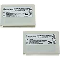 M2cpower Logitech Harmony 1250mah 3.7v Li-ion Remote Control Replacement Battery for 915 / 1000 / 1100i / L-lu18 / Lu18, 2 Piece