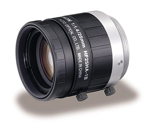 Fujinon HF25HA-1B 2/3'' 25mm F1.4-F22 Fixed Focal Lens for 1.5MP Cameras, Manual Iris, C-Mount, Industrial and Machine Vision Applications by Fujinon