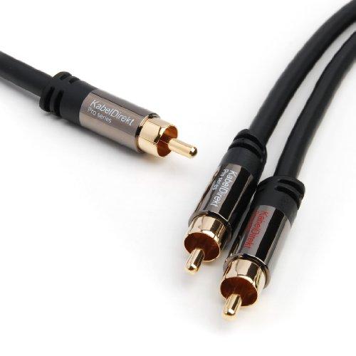KabelDirekt 3m 1 Cinch zu 2 Cinch Y - Kabel - PRO Series