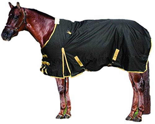Equisential by Professionals Choice Equine 600D Winter Blanket (Size 78-Inch, Black/Tan) by Equisential by Professionals Choice