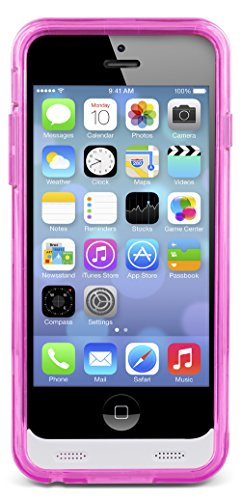 iPhone SE 5S 5 Battery event Aduro PowerUp MFI slender Rechargeable Fuel Jacket strength Bank event for Apple iPhone SE 5S 5 2400 mAh Capacity 40 Hrs Added Pink Charger Cases
