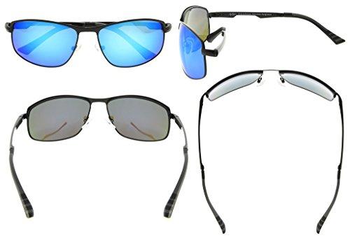 Eyekepper Lunettes de soleil Polycarbonateverres Polarisees lunettes soleil pour hommes noir/bleu verre KRLzXnxSua