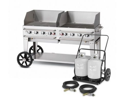 """Crown Verity 60"""" Mobile Club Series Grill with Wind Guard"""