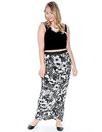 Plus Size Aloha Print Wrap Maxi Skirt