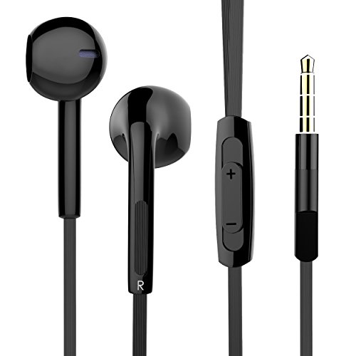VMTOP in-Ear Earbuds Noise Isolating Earphones Microphone Stereo Headphone Headset for iPhone/iPod/iPad/Samsung Galaxy/LG/HTC - 3.5 mm Devices (OUCOMI-01)