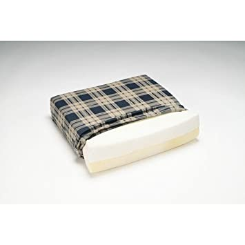 Hermell Products   Foam Wedge Wheelchair Cushion Plaid  16  X 18  X 3  To 1 Part