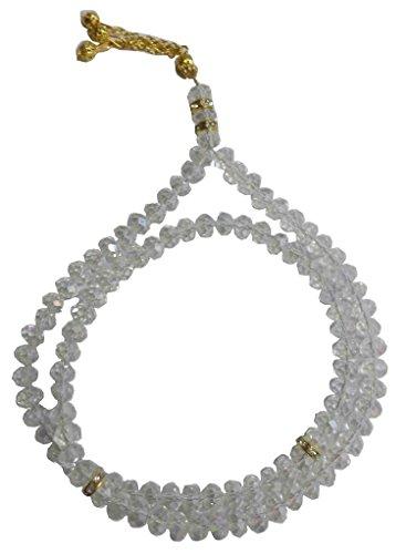 Crystal tasbeeh sebha tasbih sibha subha rosary masbaha muslim islamic islam worry beads prayer 99 beads salah salat namaz allah zikr dhikr (Muslim Worry Beads)