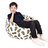 """Large Soft Bean Bag Chair Cover, Portable Bag, Convenient Storage Blankets, Pillows, Lovely Pineapple Pattern Available Boys Girls - 30"""""""