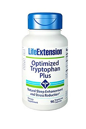 Life Extension Optimized Tryptophan Plus Vegetarian Capsules, 90 Count