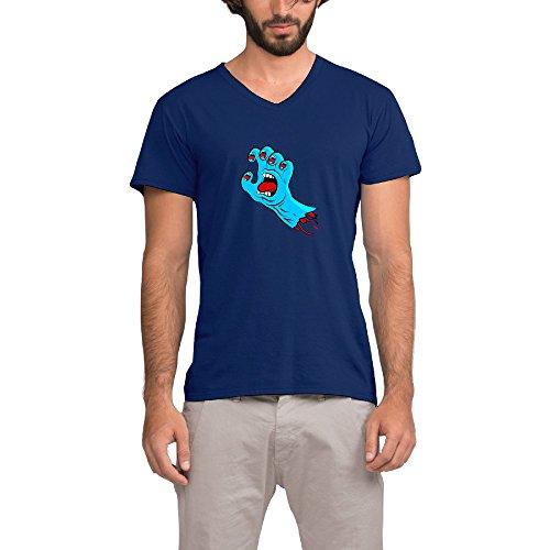 Skateboards Screaming Hand Men's V Neck Short Sleeve T Shirt