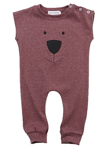Price comparison product image Ma&Baby Infant Baby Girl Boys Bear Jumpsuit Animal Cotton Romper Toddler Clothes (12-18 Months,  Wine red)