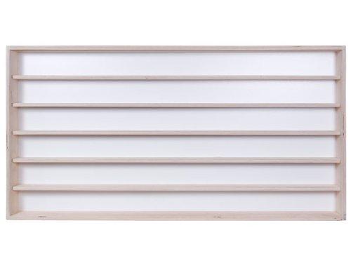 2 Vitres Plexiglas Coulissantes Voitures Trains Collection 6 /Étag/ères 150 x 58 x 8,5 cm en Bois de Bouleau Non Trait/é /Échelle N et H0 V16 Vitrine Murale Miniatures