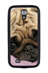 Generic Custom Picture Pug Phone Case Personalized TPU Rubber Snap On Skin Cover Back Case For Samsung Galaxy S4 I9500 by runtopwell