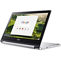 2018 Flagship Acer R13 13.3 2-in-1 Convertible Touchscreen Full HD IPS Chromebook, MediaTek Quad-core 2.10GHz, 4GB RAM, 32GB SSD, PowerVR GX6250, 802.11ac, HDMI, up to 12hr Battery Life, Chrome OS