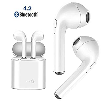 Wireless Bluetooth Headset Sports Headphone/Stereo Headphone Anti-Noise Headphone, Noise Reduction with Charge Box Perfectly Compatible with Smartphones