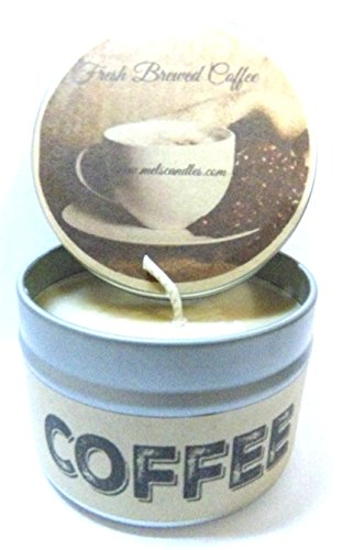 Mels Candles & More Coffee (Fresh Brewed) 4oz All Natural Soy Candle Tin Handmade in Rolla Missouri