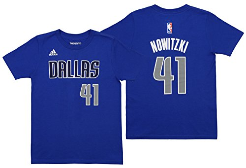 Mavericks Youth Adidas NBA Player Blue T-Shirt ()