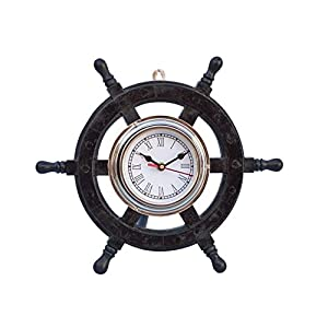 41JTgJmDEjL._SS300_ Best Ship Wheel Clocks