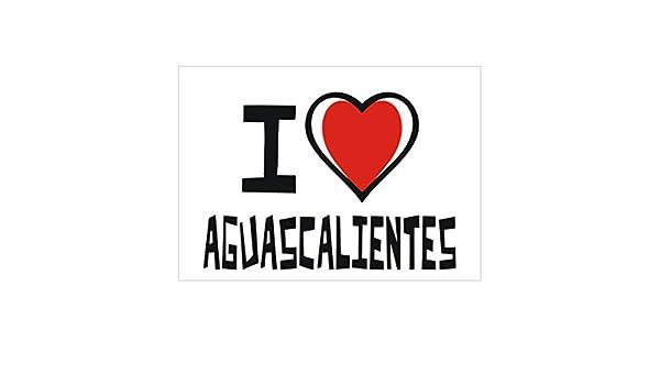 d80cdf58d06f0 Idakoos I Love Aguascalientes Bicolor Heart - Ciudades del Mundo - Pack de  Pegatinas x4  Amazon.es  Hogar