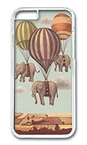 Apple Iphone 6 Case,WENJORS Awesome Flight of the Elephants Hard Case Protective Shell Cell Phone Cover For Apple Iphone 6 (4.7 Inch) - PC Transparent