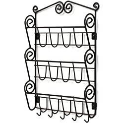 Spectrum Diversified Scroll Mail Organizer, Wall Mount, Black