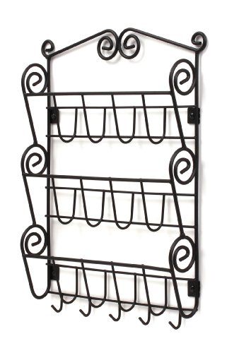 Spectrum Diversified 43310 Scroll Mail Organizer, Wall Mount