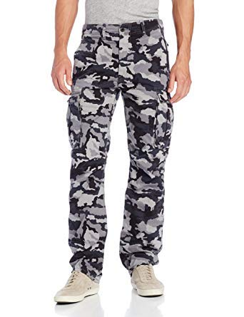 f975763e Levi's Men's Ace Cargo Twill Pant (Black Gridley Camo, 44x34) at ...