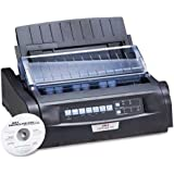 Oki MICROLINE 420 Dot Matrix Printer - 570 cps Mono - 240 x 216 dpi - Parallel, USB, Serial (Black)