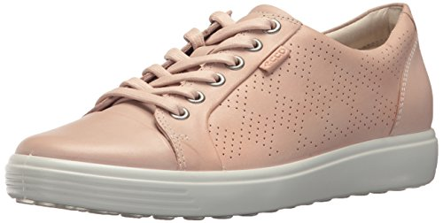 ECCO Women's Women's Soft 7 Fashion Sneaker, Rose Dust Perforated, 39 M EU (8-8.5 US)
