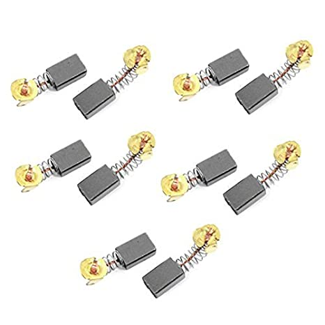 DealMux 10 Pcs Power Tool Replacement 12mm x 8mm x 5mm Motor Carbon Brushes